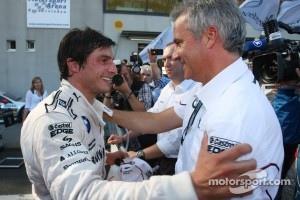 Winner Bruno Spengler, BMW Team Schnitzer BMW M3 DTM and Jens Marquardt, BMW Motorsport Director