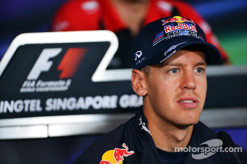 Sebastian Vettel, Red Bull Racing in de FIA persconferentie