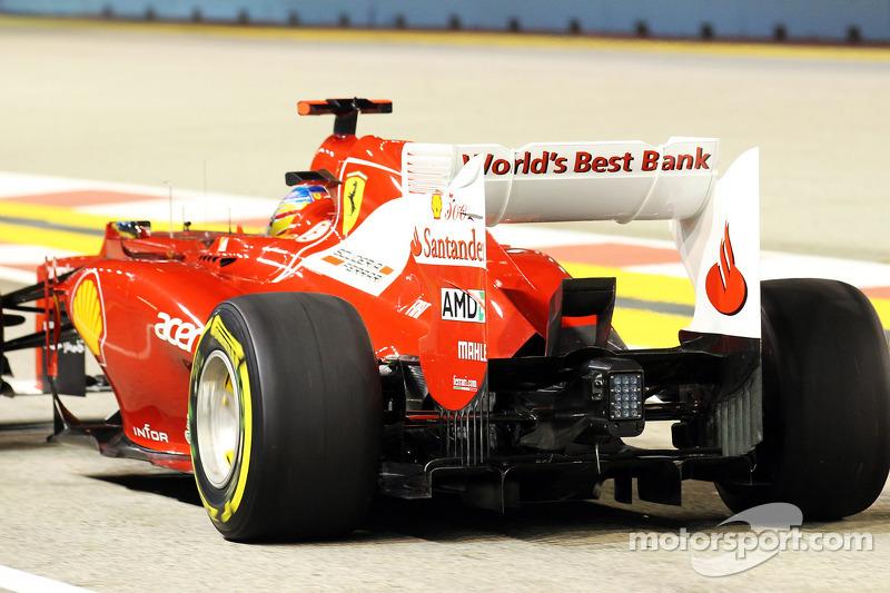 Fernando Alonso, Ferrari rear wing