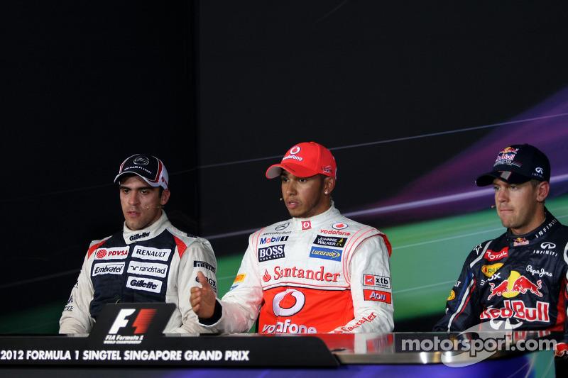 Conferencia de prensa de la FIA: Ganador de la pole Lewis Hamilton, McLaren, segundo puesto Pastor M
