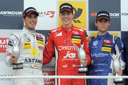 Podium: race winner Raffaele Marciello, second place Daniel Juncadella, third place Tom Blomqvist
