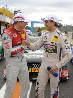 Edoardo Mortara, Audi Sport Team Rosberg; Augusto Farfus Jr., BMW Team RBM