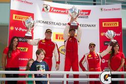 458CS podium: class winner #56 Ferrari of Ft Lauderdale 458CS: Jose Valera, second place #28 Ferrari of Beverly Hills 458CS: Jon Becker, third place #31 Ferrari of Ontario 458CS: Damon Ockey