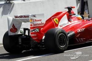 Fernando Alonso, Ferrari rear wing detail