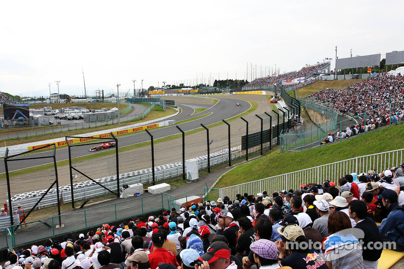 Fans en Felipe Massa, Ferrari en Fernando Alonso, Ferrari