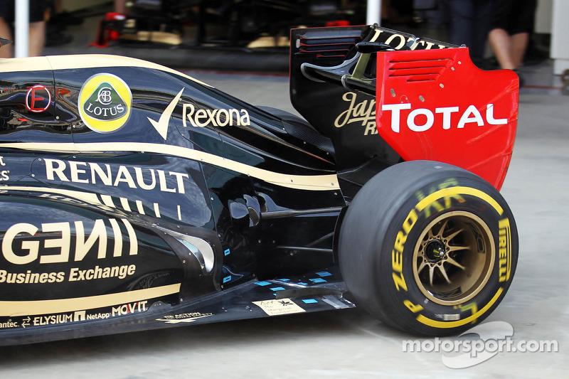 Kimi Raikkonen, Lotus F1 ophanging en uitlaat