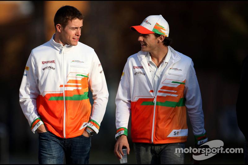 Paul di Resta, Sahara Force India Formula One Team and Jules Bianchi, Sahara Force India Formula One Team