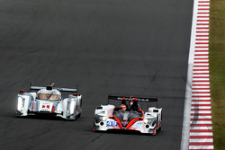 #1 Audi Sport Team Joest R18 e-tron quattro: Marcel Fässler, Benoit Tréluyer, Andre Lotterer, #49 Pecom Racing Oreca 03 Nissan: Luis Perez Companc, Pierre Kaffer, Nicolas Minassian