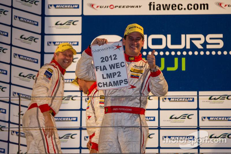 Enzo Potolicchio, Tom Kimber-Smith, Stéphane Sarrazin pakken LMP2 2012 titel