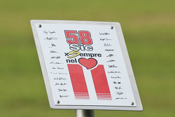Tribute to Marco Simoncelli plaque