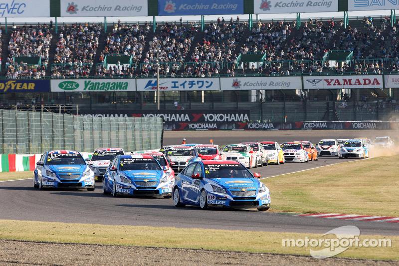 Start of the race, Alain Menu, Chevrolet Cruze 1.6T, Chevrolet