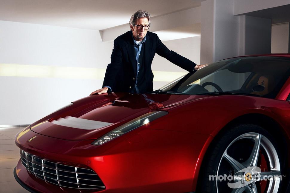Eric Clapton with the Ferrari SP12 EC