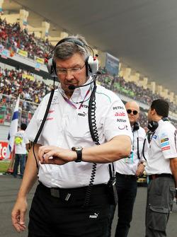 Росс Браун. ГП Индии, Воскресенье, перед гонкой.
