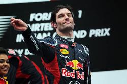 Mark Webber, Red Bull Racing viert op het podium