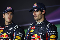 Sebastian Vettel, Red Bull Racing and Mark Webber, Red Bull Racing in the FIA Press Conference