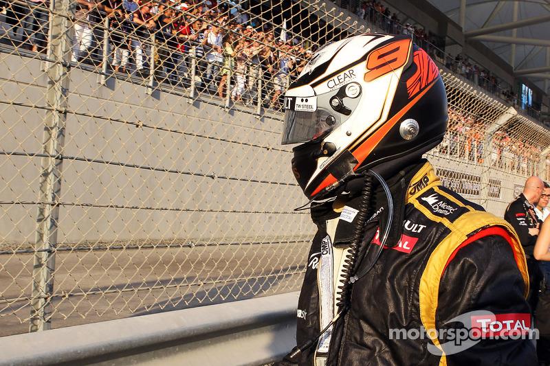 Kimi Raikkonen, Lotus F1 Team op de grid