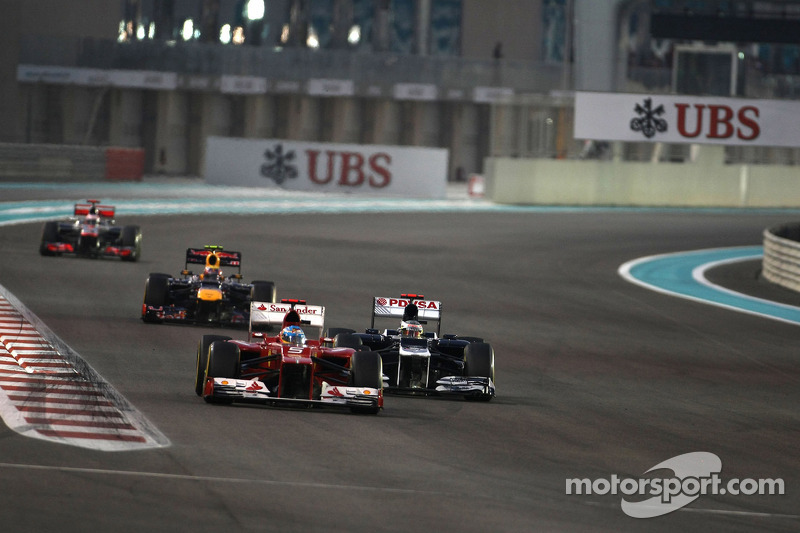 Fernando Alonso, Scuderia Ferrari en Pastor Maldonado, Williams F1 Team