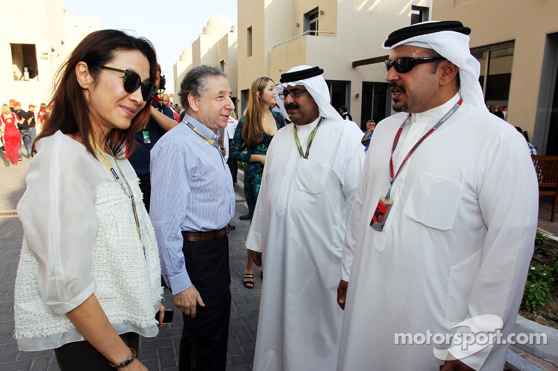 Michelle Yeoh, and Jean Todt, FIA President