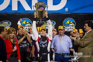 Championship victory lane: NASCAR Camping World Series 2012 champion James Buescher, Turner Motorsports Chevrolet celebrates