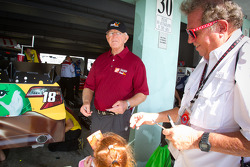 Joe Gibbs signs autographs