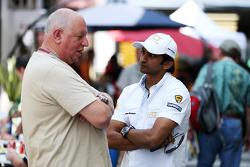 Dieter Rencken, Journalist with Narain Karthikeyan, Hispania Racing F1 Team