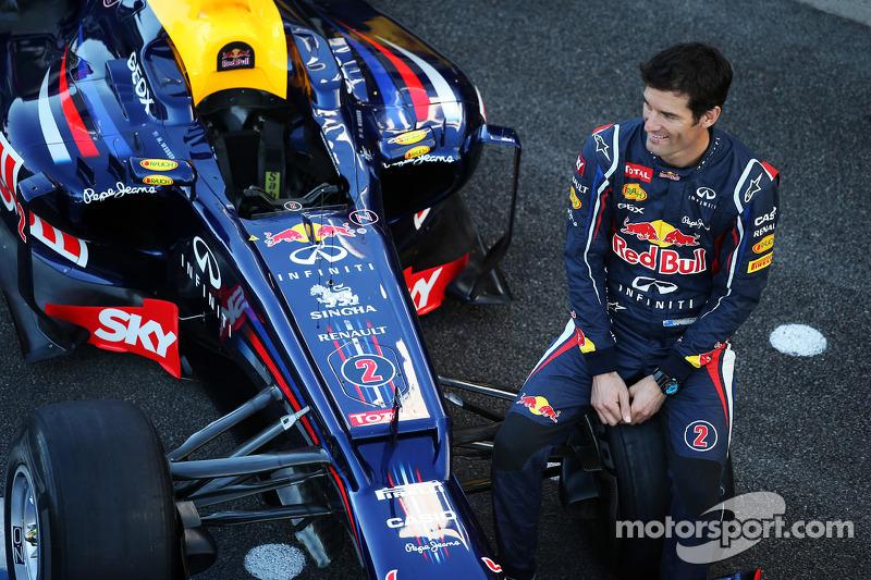 Mark Webber, Red Bull Racing at a team photograph