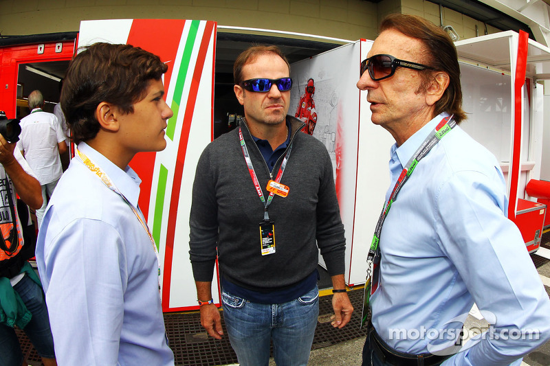 Emerson Fittipaldi, met kleinzoon Pietro Fittipaldi, en Rubens Barrichello