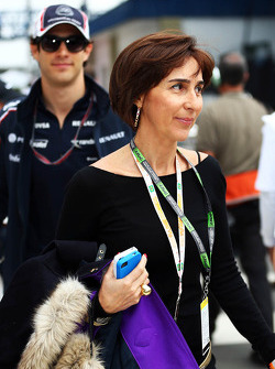 Viviane Senna, with her son Bruno Senna, Williams