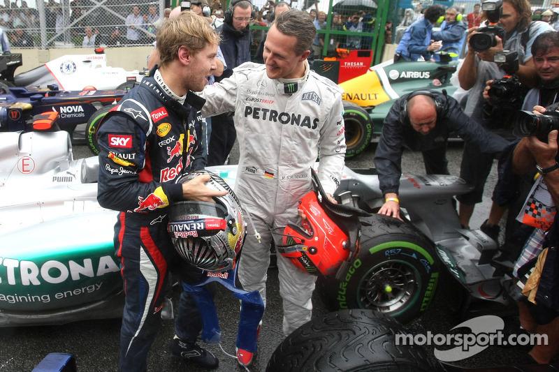 Sebastian Vettel, Red Bull Racing, y Michael Schumacher, Mercedes GP 2012