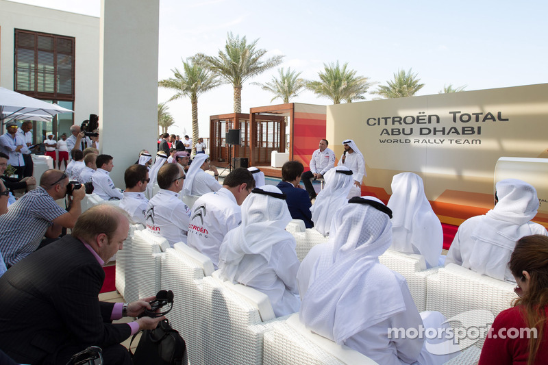 Презентация Citroën Total Abu Dhabi World Rally Team, презентация.