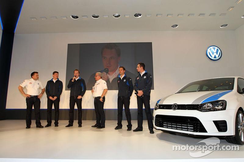Яри-Матти Латвала, Микка Антила, Себастьен Ожье и Жюльен Инграссиа. Презентация Volkswagen Polo R WR