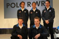 Andreas Mikkelsen, Jari-Matti Latvala, Miikka Anttila, Sébastien Ogier en Julien Ingrassia