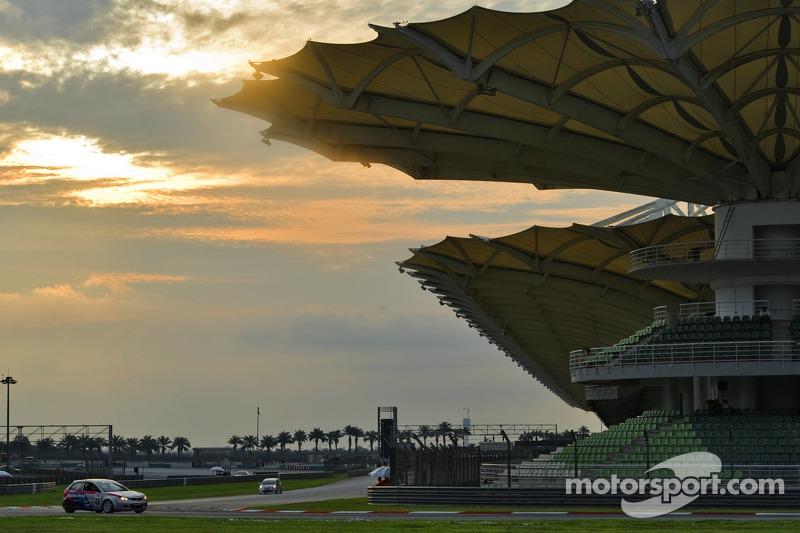 Sunset over the Sepang circuit