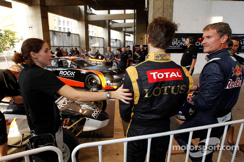 Romain Grosjean and David Coulthard