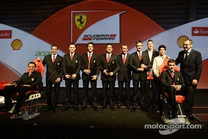 The Ferrari stable of factory drivers with Stefano Domenicali