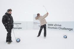 Ryder Cup kampioen Martin Kaymer en DTM kampioen Bruno Spengler in de BMW xDrive Mountain Challenge