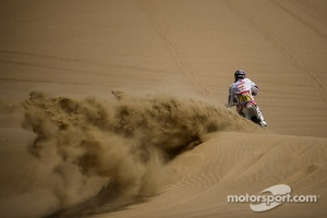 Action on the sand dunes in Pisco, Peru