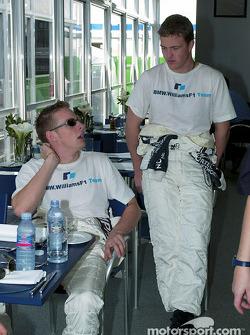 Jenson Button and Ralf Schumacher