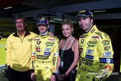 Eddie Jordan, Jarno Trulli y Heinz-Harald Frentzen