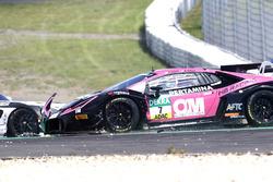 Crash: #7 HB Racing WDS Bau, Lamborghini Huracán GT3: Norbert Siedler, Marco Mapelli