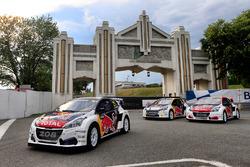Les 208 WRX du Team Peugeot Hansen