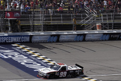 Darrell Wallace Jr., MDM Motorsports Chevrolet, takes the checkered flag