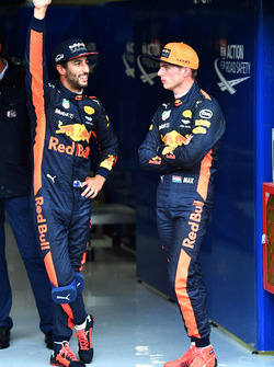 Daniel Ricciardo, Red Bull Racing and Max Verstappen, Red Bull Racing celebrate in parc ferme