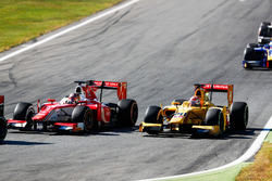 Charles Leclerc, PREMA Powerteam followed by Norman Nato, Pertamina Arden