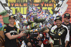 Cole Pearn and Martin Truex Jr., Furniture Row Racing Toyota celebrate in victory lane