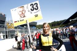 Chica de la parrilla para René Rast, Audi Sport Team Rosberg, Audi RS 5 DTM
