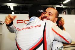 LM GTE polesitters Richard Lietz, Frédéric Makowiecki, Porsche Team