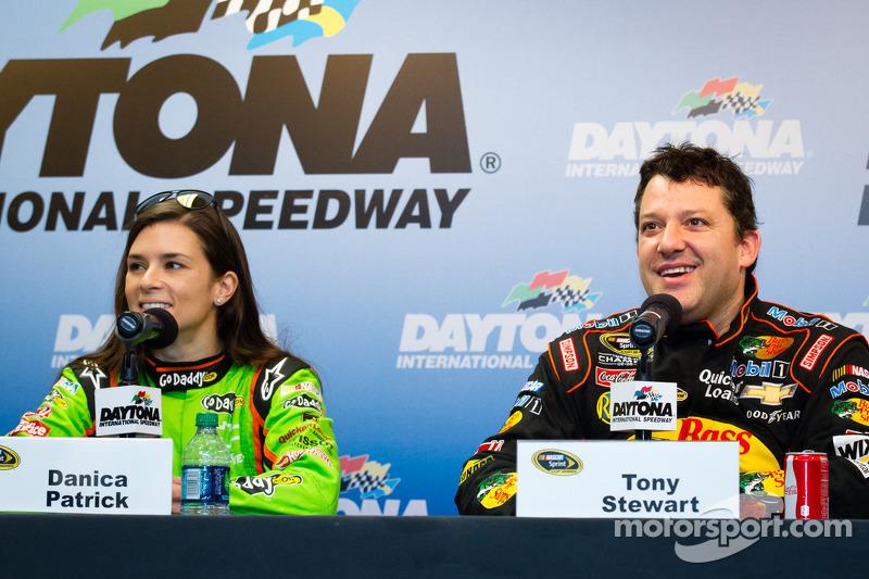 Danica Patrick, Stewart Haas Racing Chevrolet en Tony Stewart, Stewart Haas Racing Chevrolet