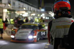Sean Edwards waits for a pitstop