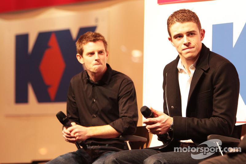 Anthony Davidson en Paul di Resta, Sahara Force India F1 op de Autosport Stage